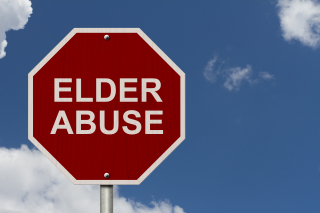 Elder abuse stop sign