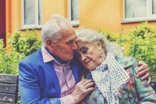 Elderly wealthy couple