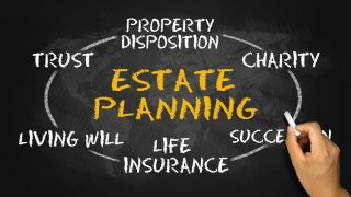 Estate planning on blackboard