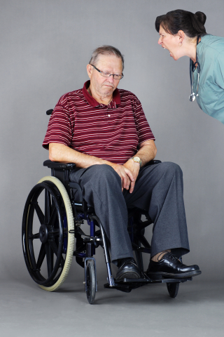 Elder abuse in wheelchair